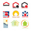 Vector de stock : Real estate logos