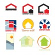 Real estate logos — Stockvectorbeeld