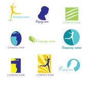 красота логотипы — Cтоковый вектор