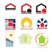 Fastigheter logotyper — Stockvektor
