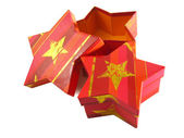 Star shaped gift boxes — Stock Photo
