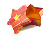 Star shaped boxes — Stock Photo