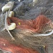 Fishing net - detail - Stock Photo