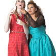Two girls making remarks about somebody — Stock Photo