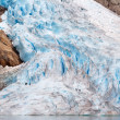 Walking up glacier — Stock Photo #2123621