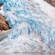 Walking up the glacier — Stock Photo