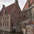 Old houses on a channel in Brugge — Stock Photo #2124067