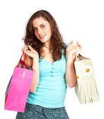 Pretty girl with shopping bags — Stock Photo