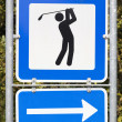 Stock Photo: Golf course road sign