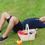 Man on picnic — Stock Photo