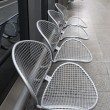 Royalty-Free Stock Photo: Raw of metal chairs