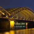 Night panoram of Cologne — Stock Photo #2460233