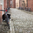 Bicycles on medieval street — Foto Stock #2460538