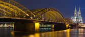 Night panoram of Cologne — Stock Photo