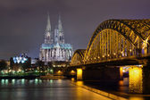 Cologne at night — Stock Photo