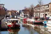 Mechelen boats — Stock Photo