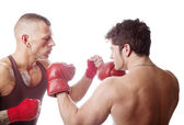 Boxing men — Stock Photo