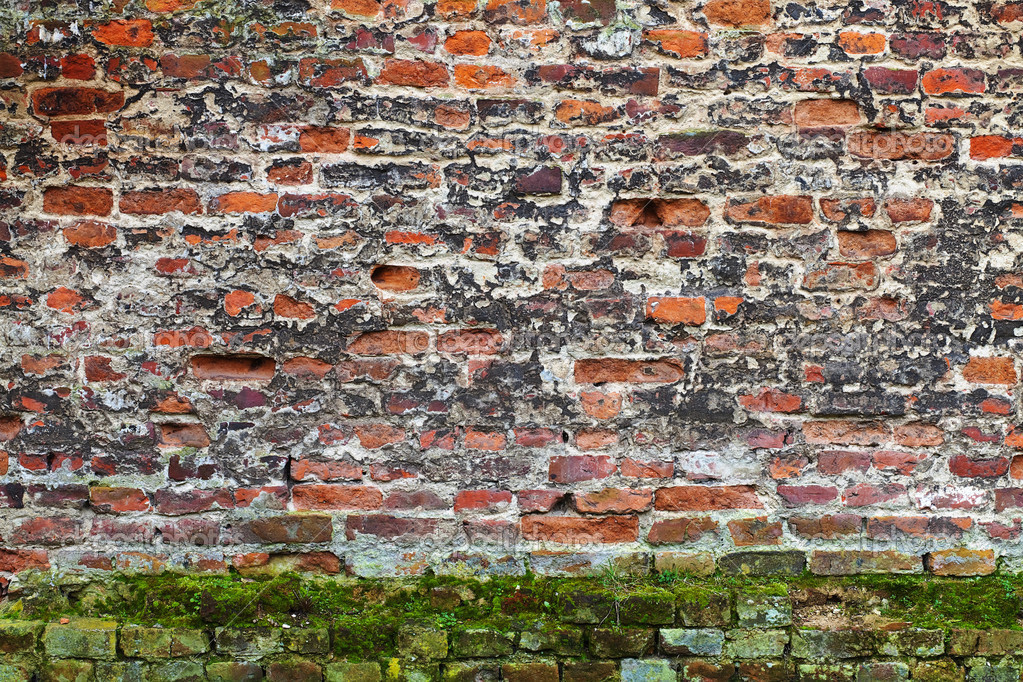 Grunge red brick texture (very old wall) — Stock Photo #2519149