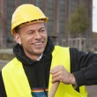 Smiling worker — Foto Stock