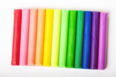Multicolored plasticine isolated — Stock Photo