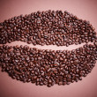 Big coffee bean vignetting — Stock Photo