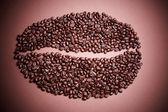 Big coffee bean vignetting — Stock Photo