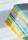 Multicolored brochures — Stock Photo