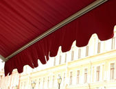 Awning over cafe — Stock Photo