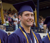 Male attending graduation ceremony — Stockfoto
