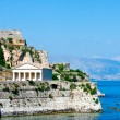 Greek Temple on Coast of Corfu — Stock Photo