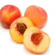 Fresh Cut Peaches — Stock Photo