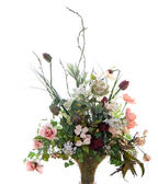 Silk Flower Arrangement — Stock Photo