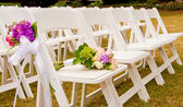 Chairs at a Wedding — Stock Photo