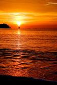 Vertical Orange Sunset — Stock Photo