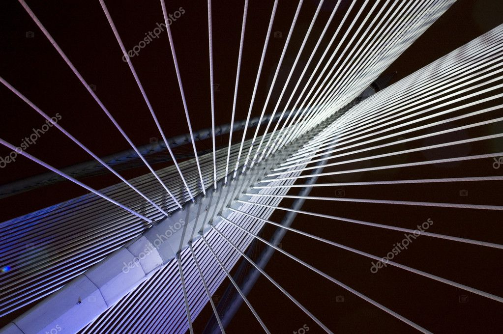 Abstract view of a suspension bridge  — Stock Photo #2354897