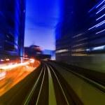 Urban night traffics — Stock Photo