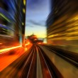 Urban night traffics - Stock Photo