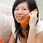 praten over de telefoon — Stockfoto #2362871
