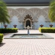 Moroccan Architecture Inner Garden - Stock Photo