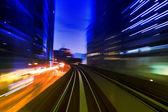 Kentsel gece trafik — Stok fotoğraf