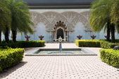Fas mimarisinin iç bahçe — Stok fotoğraf