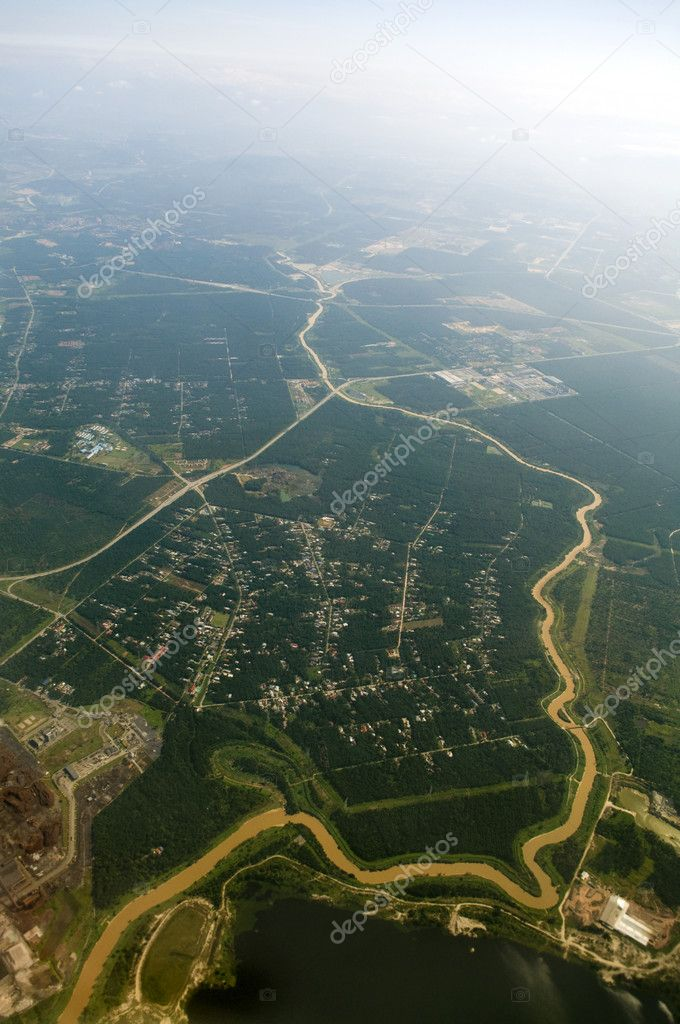 Aerial view over a rural area at Malaysia. — Stock Photo #2363744
