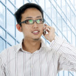 Businessman on phone. — Stock Photo #2375970