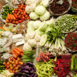 Asian fresh vegetables market — Stock Photo