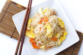 Fried rice vermicelli. — Stock Photo