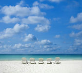 Beach with chair. — Stock Photo