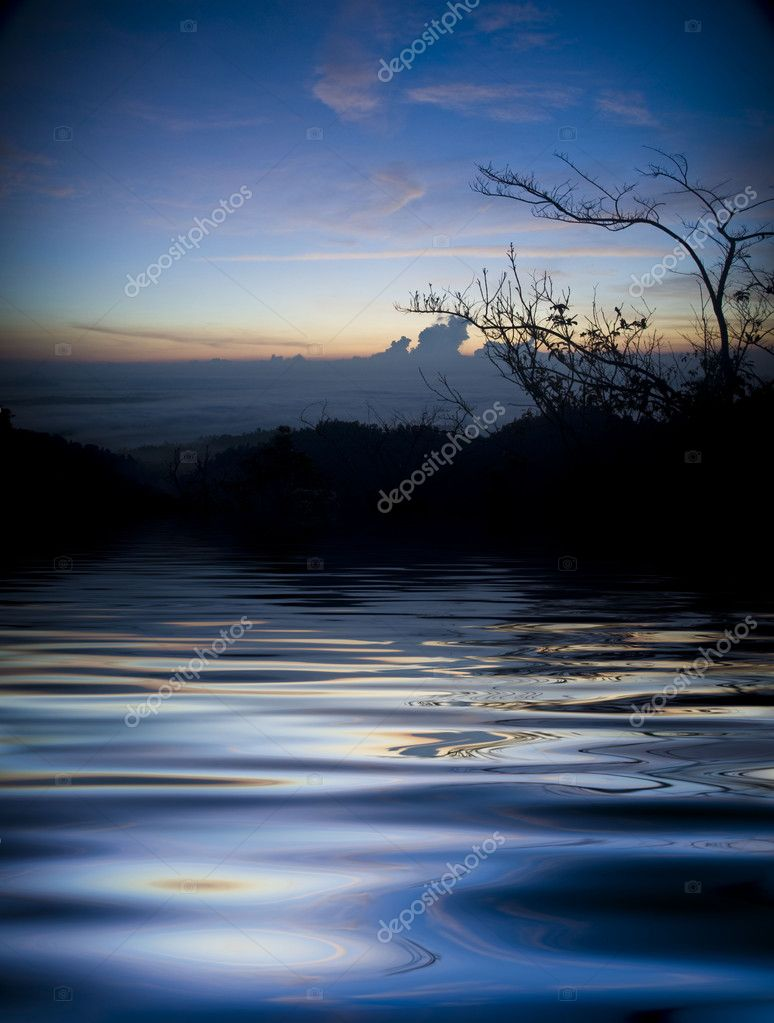 Sunrise over a peaceful lake  — Stock Photo #2375539