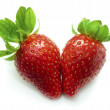 Stock Photo: Fresh Isolated Strawberries.