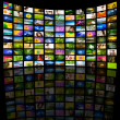 Stockfoto: Big Panel of TV