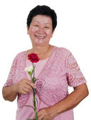 Happy Senior Woman — Stock Photo